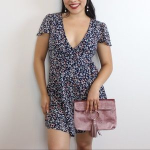 NWT Abercrombie and Fitch Floral Wrapped Dress